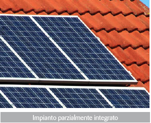 Impianto fotovoltaico parzialmente integrato