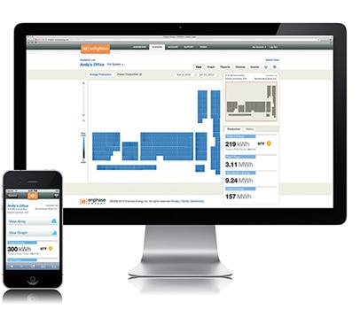 Software di monitoraggio e gestione Enphase